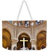 High Alter Notre Dame Cathedral Paris France Weekender Tote Bag by Kim Bemis