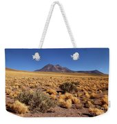 High Altitude Puna Grasslands And Miniques Volcano Chile Weekender Tote Bag