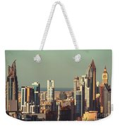 High-angle View Of Dubai's Towers At Sunset.  Weekender Tote Bag