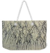 High Angle View Of Waves Create Weekender Tote Bag