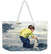 High Country Snow Girl Weekender Tote Bag
