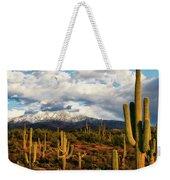 High Desert Snow Weekender Tote Bag
