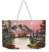 High Lakes Summer Sunset Weekender Tote Bag