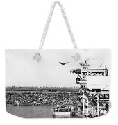 High Platform Swan Dive Weekender Tote Bag