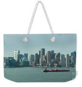 High Resolution Panoramic Of Downtown Boston During The Day Weekender Tote Bag