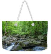 High Shoals Falls Trail In South Mountain Panorama Weekender Tote Bag by Ranjay Mitra