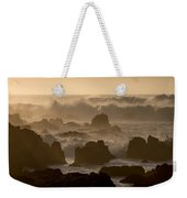 High Surf At Asilomar Beach Weekender Tote Bag
