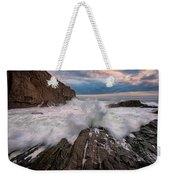 High Tide At Bald Head Cliff Weekender Tote Bag