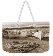 High Tide In Sennen Cove Sepia Weekender Tote Bag