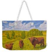 Highland Cattle Pasture Weekender Tote Bag