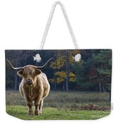 Highland Cow In France Weekender Tote Bag