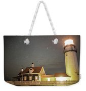 Highland Light Truro Massachusetts Cape Cod Starry Sky Weekender Tote Bag