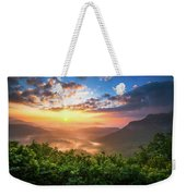 Highlands Sunrise - Whitesides Mountain In Highlands Nc Weekender Tote Bag