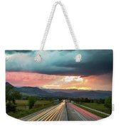 Highway 36 To Beautiful Boulder Colorado Weekender Tote Bag