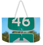 Highway Fourty Six Weekender Tote Bag