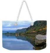 Highway Light Trails On Columbia River Gorge Weekender Tote Bag