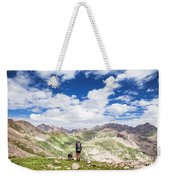 Hiker And Dog Weekender Tote Bag