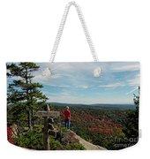 Hiker In Acadia National Park Weekender Tote Bag