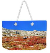 Hikers And Autumn Tundra On Mount Yale Colorado Weekender Tote Bag