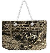 hikers Bridge over the Creek Weekender Tote Bag