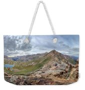 Hikers On Columbine Pass - Weminuche Wilderness - Colorado Weekender Tote Bag