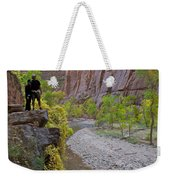 Hikers Zion National Park Weekender Tote Bag