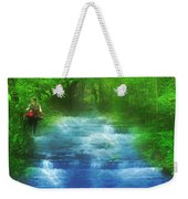 Hiking At The Rivers Edge Weekender Tote Bag