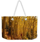 Hiking In Fall Aspens Weekender Tote Bag