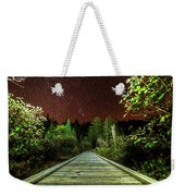 Hiking Into The Night Adirondack Log Keene Valley Ny New York Weekender Tote Bag