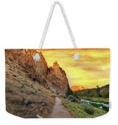 Hiking Trail At Smith Rock State Park Weekender Tote Bag