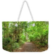 Hiking Trail Through Forest Along Lewis And Clark River Weekender Tote Bag