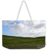 Hiking Trails, Rolling Hills And Grass Fields In Ireland Weekender Tote Bag