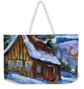 Hillsidebarn In Winter Weekender Tote Bag