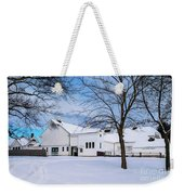 Hilltip Farm In Snow Weekender Tote Bag