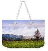 Hilltop Fog Sunrise Landscape Weekender Tote Bag