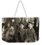 Hine: Breaker Boys, 1911 Weekender Tote Bag