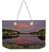 Hinson Lake Clouds Weekender Tote Bag