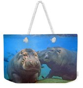 Hippos In Love Weekender Tote Bag