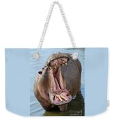 Hippo's Open Mouth Weekender Tote Bag