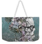 Hipster Floral Skull 2 Weekender Tote Bag