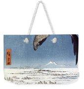 Hiroshige: Edo/eagle, 1857 Weekender Tote Bag