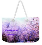 His Compassion Never Fails Weekender Tote Bag