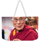 His Holiness The 14th Dalai Lama Photo By Christopher Michel 2012 Weekender Tote Bag
