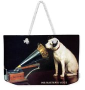 His Master's Voice - Hmv - Dog And Gramophone - Vintage Advertising Poster Weekender Tote Bag