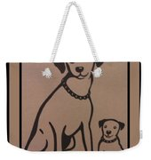 His Masters Voice - Nipper And Chipper Weekender Tote Bag