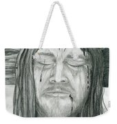 His Selfless Sacrifice  Weekender Tote Bag