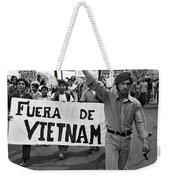 Hispanic Anti-viet Nam War March 2 Tucson Arizona 1971 Weekender Tote Bag