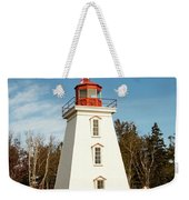 Historic Cape Bear Lighthouse, Pei Weekender Tote Bag