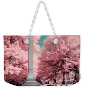 Historic Cemetery In Infrared Weekender Tote Bag
