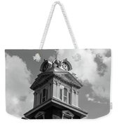 Historic Courthouse Steeple In Bw Weekender Tote Bag by Doug Camara